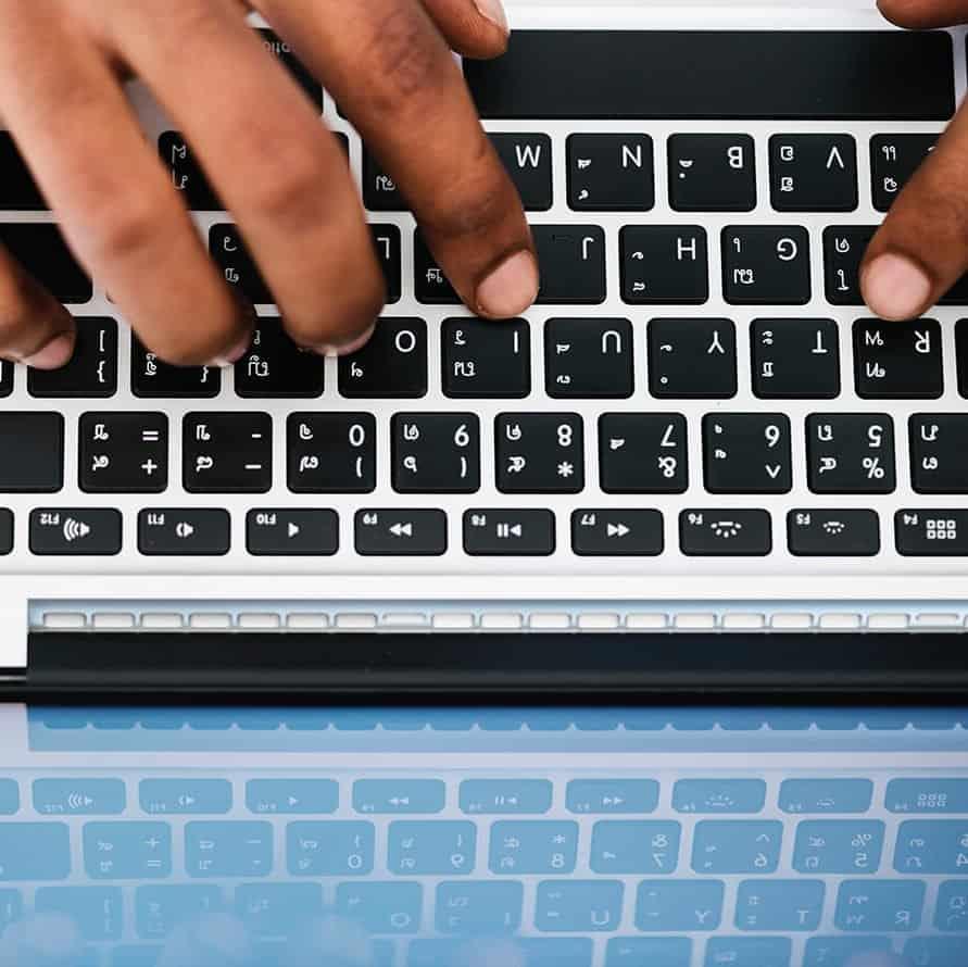 Storytelling op een laptop