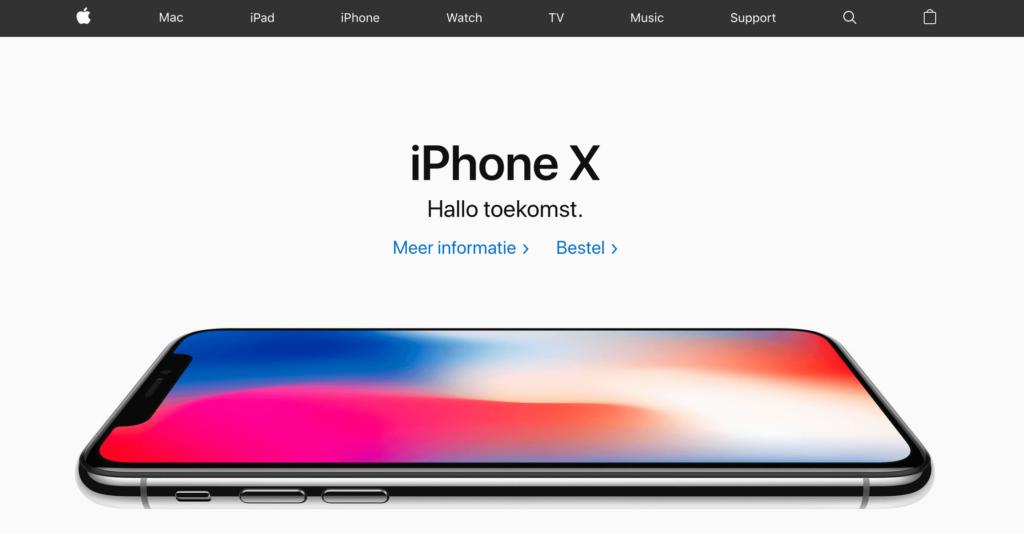 Apple website van het jaar winnaar