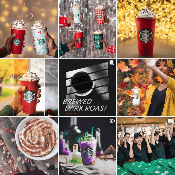 Instagram feed Starbucks