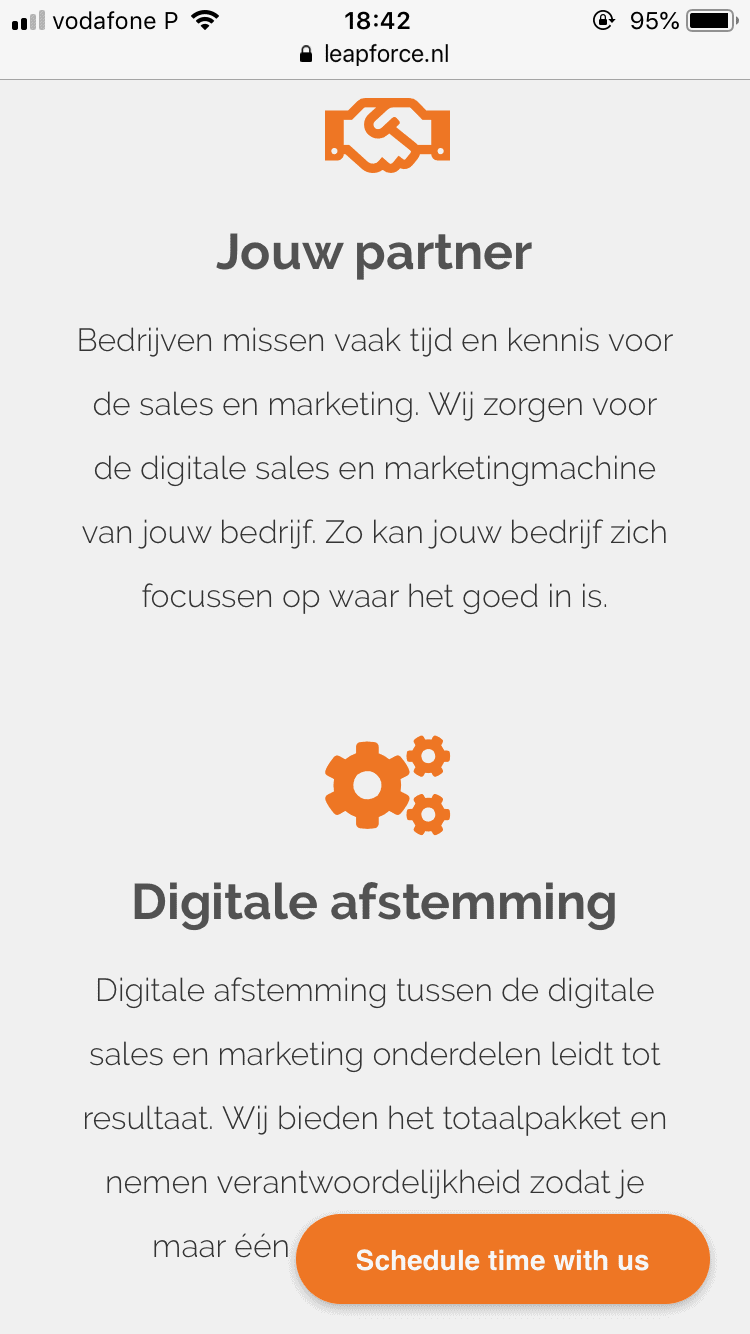 Mobile first ontwerp