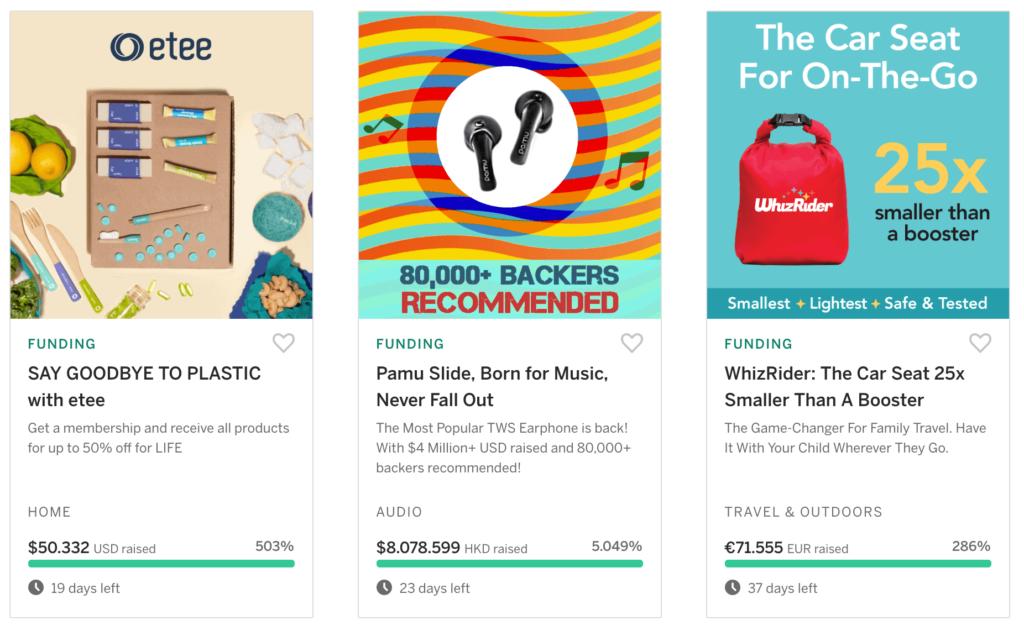Crowdfunding voorbeelden
