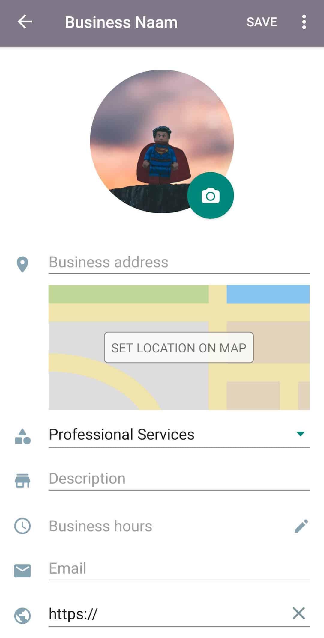 WhatsApp voor Business profiel