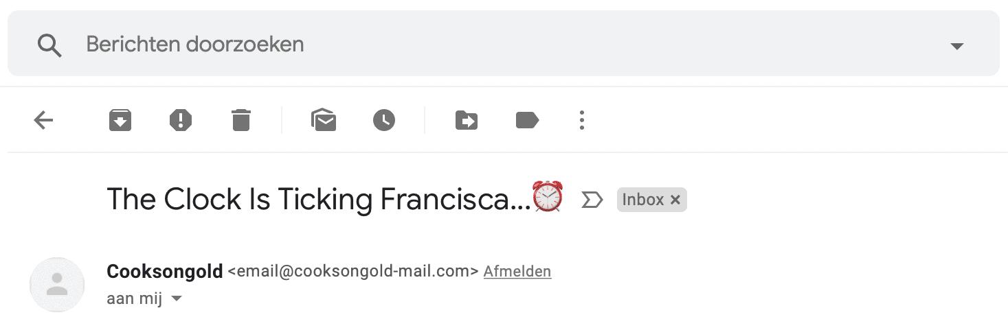 Email drip onderwerp