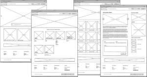 Website of webshop wireframe