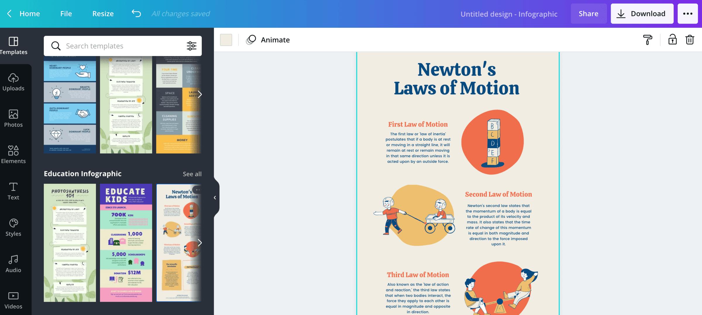 Infographic in Canva maken