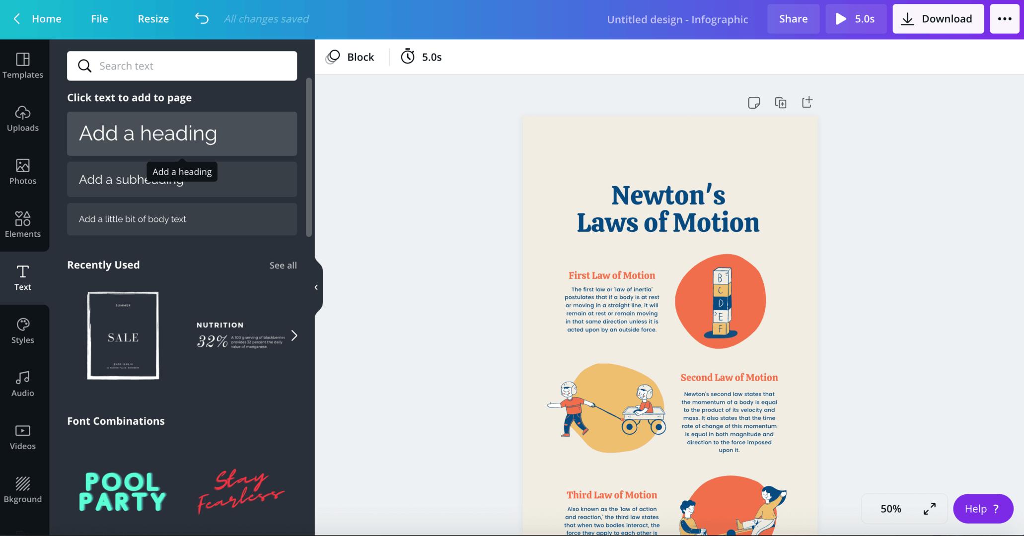 Infographic elementen Canva